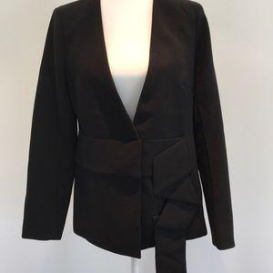 Banana Republic black origami sash blazer
